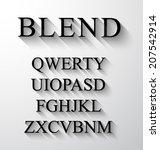 classic alphabet with modern...