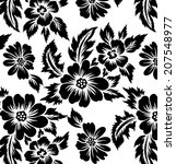 pattern designs with flowers... | Shutterstock .eps vector #207548977