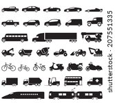 transportation car icons set   Shutterstock .eps vector #207551335
