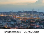 refinery factory plant in heavy ... | Shutterstock . vector #207570085