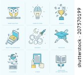 set of flat line icons for... | Shutterstock .eps vector #207570199