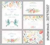 beautiful vintage wedding set... | Shutterstock .eps vector #207570337