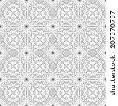 black and white geometric... | Shutterstock .eps vector #207570757