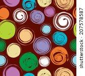 abstract seamless patterns  | Shutterstock .eps vector #207578587