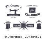 vector set of vintage tailor... | Shutterstock .eps vector #207584671