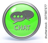 chat circular icon on white... | Shutterstock . vector #207587377