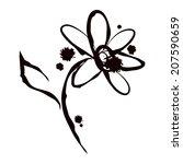grunge elegance ink splash...   Shutterstock .eps vector #207590659