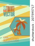 vector illustration with travel ... | Shutterstock .eps vector #207595717