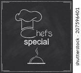 design for restaurant chef's... | Shutterstock .eps vector #207596401