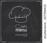 design for restaurant chef's... | Shutterstock .eps vector #207596425