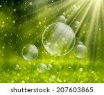 soap bubbles on a nature...