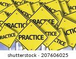 practice written on multiple... | Shutterstock . vector #207606025