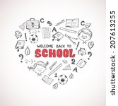 school objects in the shape of... | Shutterstock .eps vector #207613255