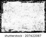 grunge frame  | Shutterstock .eps vector #207622087
