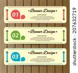 design template banners set | Shutterstock .eps vector #207632719