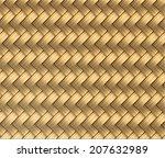 wicker seamless pattern vector  ... | Shutterstock .eps vector #207632989