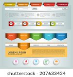 web site template. navigation... | Shutterstock .eps vector #207633424