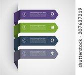 modern minimalistic... | Shutterstock .eps vector #207637219