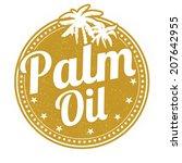 palm oil grunge rubber stamp on ... | Shutterstock .eps vector #207642955