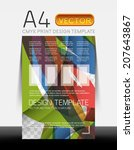 vector a4 cmyk modern flyer...   Shutterstock .eps vector #207643867
