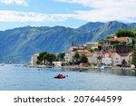 town perast in bay of kotor ... | Shutterstock . vector #207644599