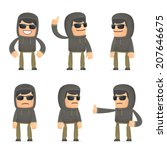 set of hacker character in... | Shutterstock .eps vector #207646675