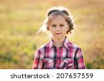 portrait of cute kid. country... | Shutterstock . vector #207657559