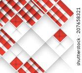 abstract 3d geometrical design | Shutterstock . vector #207658321