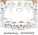 series of sketches of beautiful ... | Shutterstock .eps vector #207664255