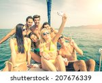 Group Of Friends On A Boat...