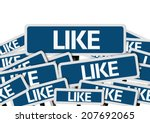 like written on multiple blue... | Shutterstock . vector #207692065