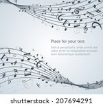 Musical Notes Vector Backgroun...