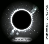 solar eclipse. radiance and... | Shutterstock .eps vector #207696931