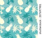 exotic caribbean seamless... | Shutterstock .eps vector #207697981