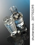 glass and bottle of water | Shutterstock . vector #207702295