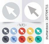 mouse cursor sign icon. pointer ...   Shutterstock .eps vector #207709711