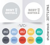 best sister ever sign icon.... | Shutterstock .eps vector #207711961