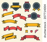 set of vintage ribbons and... | Shutterstock . vector #207714004