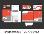 stationery template design | Shutterstock .eps vector #207719965