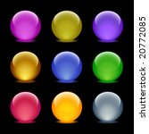color glass ball web icons  set ... | Shutterstock .eps vector #20772085