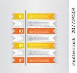 modern infographics colorful... | Shutterstock .eps vector #207724504