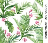 watercolor tropical colorful... | Shutterstock . vector #207728014
