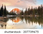 sunrise reflection in the utah... | Shutterstock . vector #207739675
