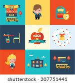 back to school icons | Shutterstock .eps vector #207751441