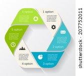 modern vector info graphic for... | Shutterstock .eps vector #207752011
