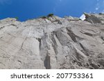 Low Angle View Of A Cliff Face...