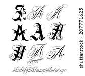 handmade vector calligraphy... | Shutterstock .eps vector #207771625