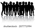 group of children | Shutterstock .eps vector #207771994