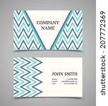 business card template. modern... | Shutterstock .eps vector #207772369