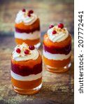Layered Pumpkin And Cranberry...